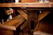 Reclaimed Trestle Base Farm Table