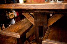 Reclaimed Trestle Base Farm Table