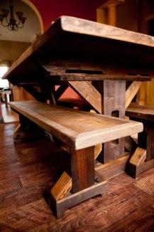 Reclaimed Wood Trestle Base Table