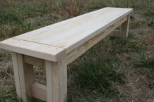 Farm House Style Bench (unfinished)