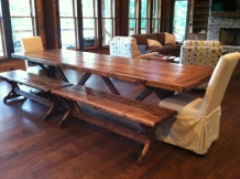10ft. Trestle Base Table w/ Provincial Stain